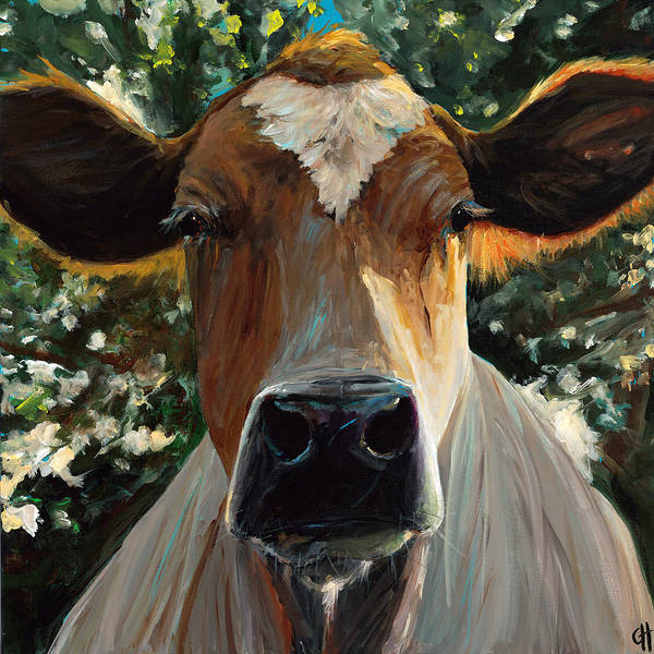 Wall Art - Painting - Eileen The Cow by Cari Humphry