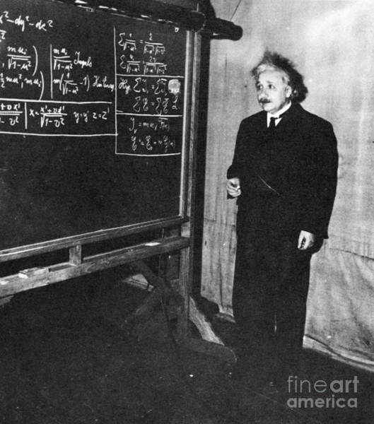 Mass-energy Equivalence Wall Art - Photograph - Einstein At Princeton University by Science Source