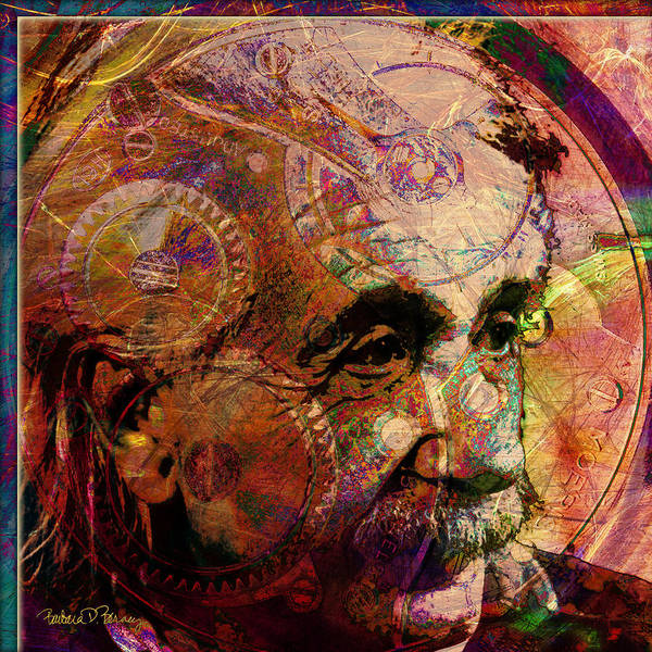 Digital Art - Einstein by Barbara Berney