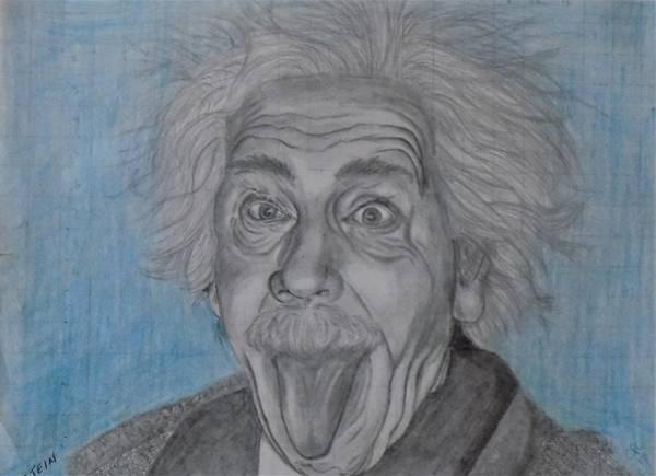 Drawing - Einstein by Chuck Caputo