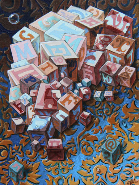 Painting - Einstein. Cubes. Op.2767 by Victor Molev