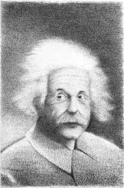 Imagination Drawing - Einstein In His Own Words by Phil Vance