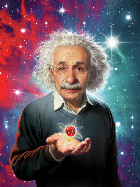 Equation Wall Art - Digital Art - Einstein by Mark Fredrickson