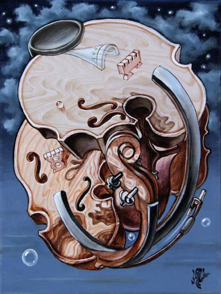 Einstein's Violin. Op.2763 Art Print