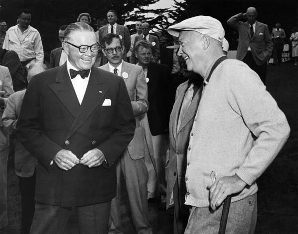 Photograph - Eisenhower At Pebble Beach by Underwood Archives