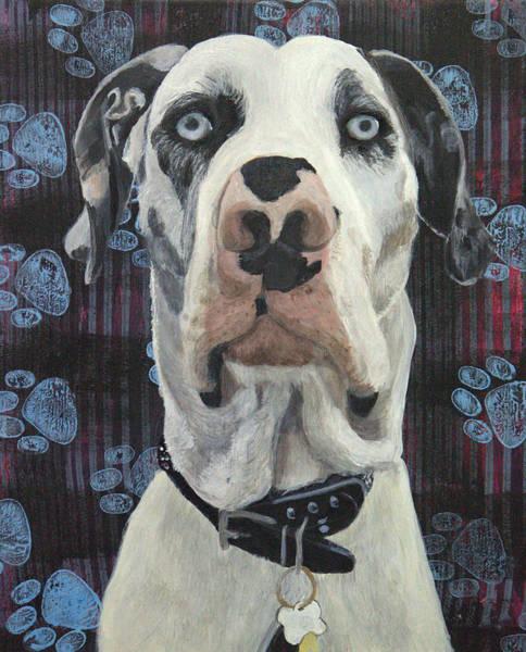 Black Great Dane Painting - Eisenhower by Lorelle Carr