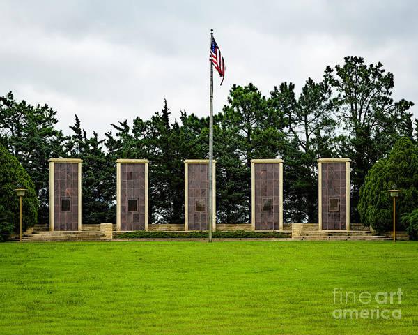 Photograph - Eisenhower Museum W W I I Memorial by Jon Burch Photography