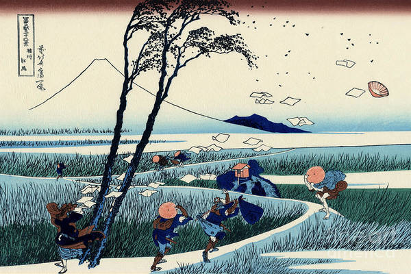 Far East Painting - Ejiri In The Suruga Province by Hokusai