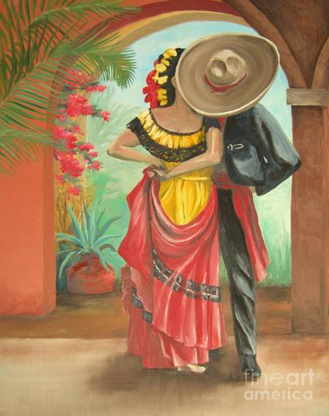 Sombrero Painting - El Beso by Kim Lucianovic