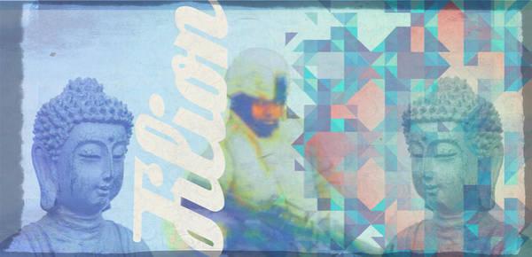 Mixed Media - El Buddha by Michelle Dallocchio