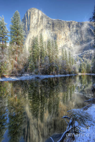 Photograph - El Capitan From Cathedral Beach Winter Yosemite National Park by Wayne Moran