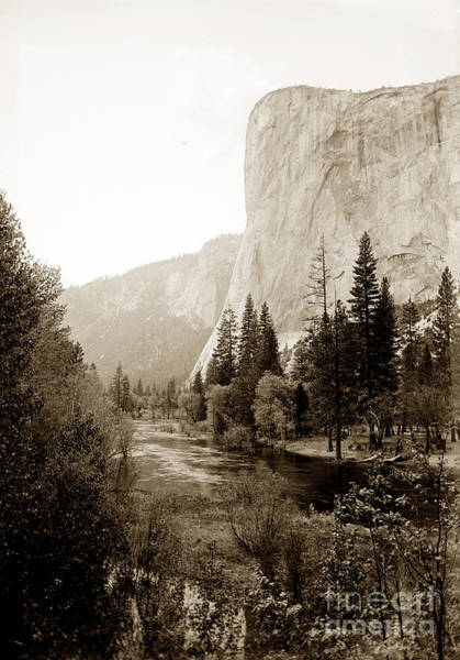 Photograph - El Capitan, From The East.  Yosemite Valley, Circa 1908 by California Views Archives Mr Pat Hathaway Archives