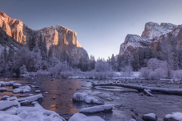 Wall Art - Photograph - El Capitan From Valley View On A Frigid Fall Morn by Bridget Calip