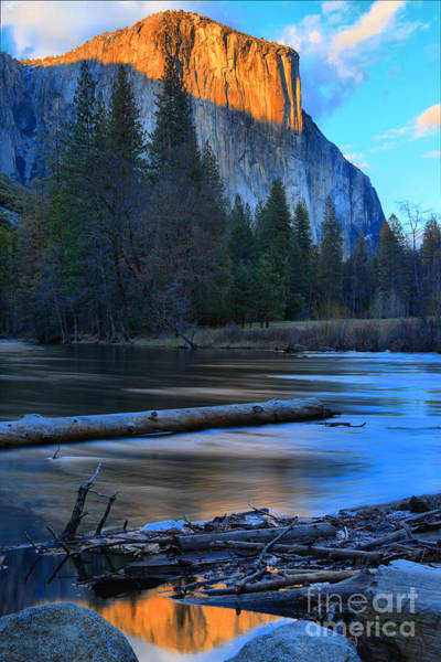 Photograph - El Capitan Sunset Reflections by Adam Jewell