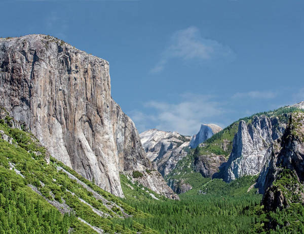 Photograph - El Capitan, Three Brothers And Half Dome by William Bitman