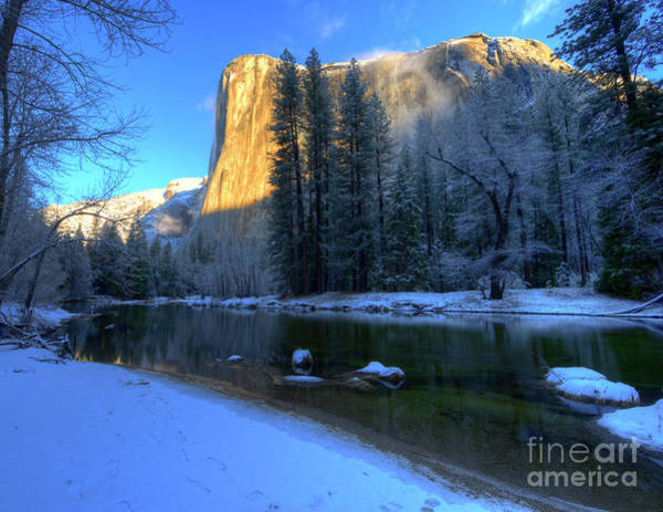 Photograph - El Capitan Winter Yosemite National Park II by Wayne Moran