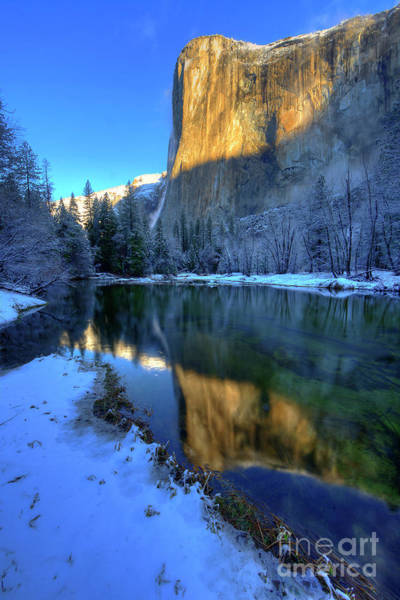 Photograph - El Capitan Winter Yosemite National Park by Wayne Moran