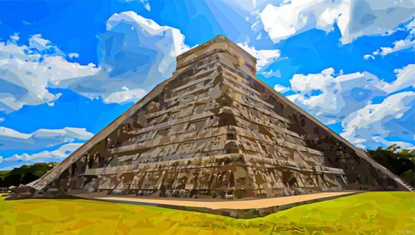 Chichen Digital Art - El Castillo, Chichen Itza - 2 by Brian Shaw