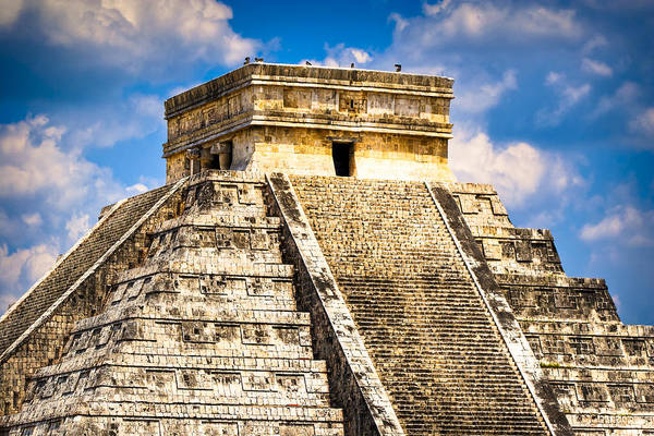 Kukulcan Photograph - El Castillo - Pyramid At Chichen Itza by Mark E Tisdale