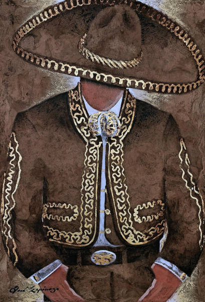 Mariachi Painting - E  L  .  C  H  A  R  R  O by J  - O   N    E