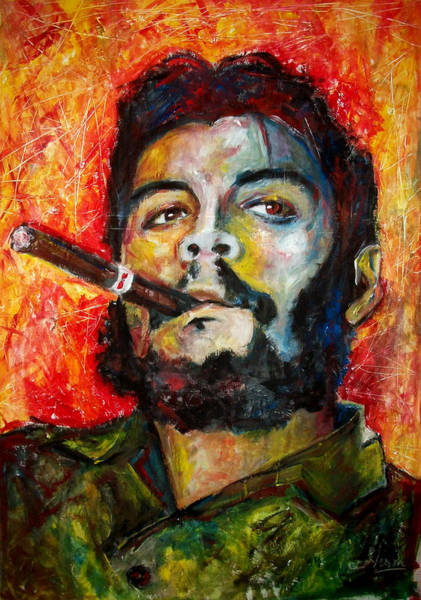 Wall Art - Painting - El Che by Marcelo Neira
