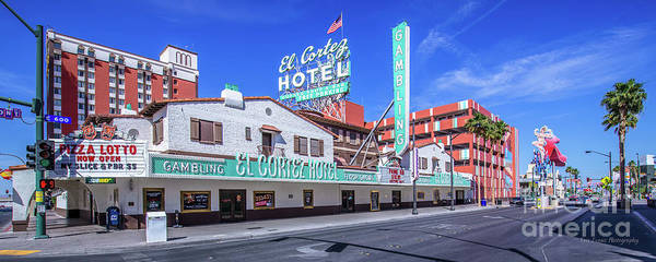 Wall Art - Photograph - El Cortez Hotel On Fremont Street 2.5 To 1 Ratio by Aloha Art