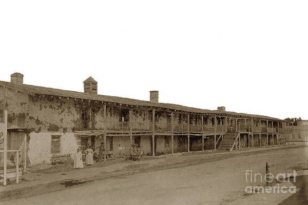 Photograph - El Cuartel Was Built By Don Jose Abrego, Monterey Circa 1885 by California Views Archives Mr Pat Hathaway Archives