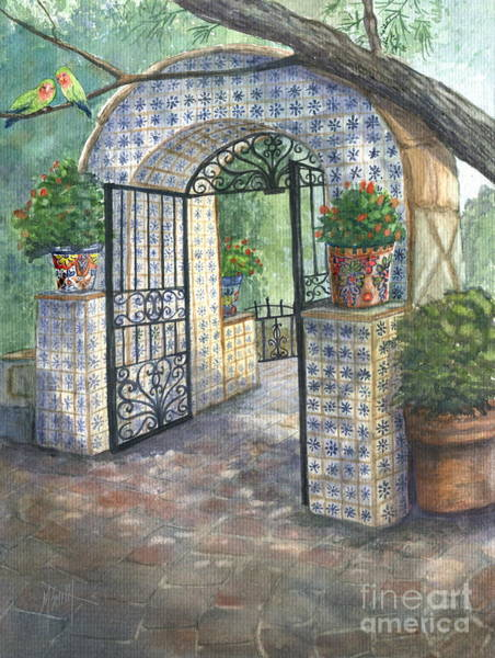 Lovebird Painting - El Encanto by Marilyn Smith