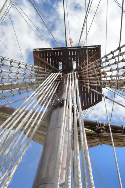 Knot Hole Photograph - El Galeon Mast by Linda Covino