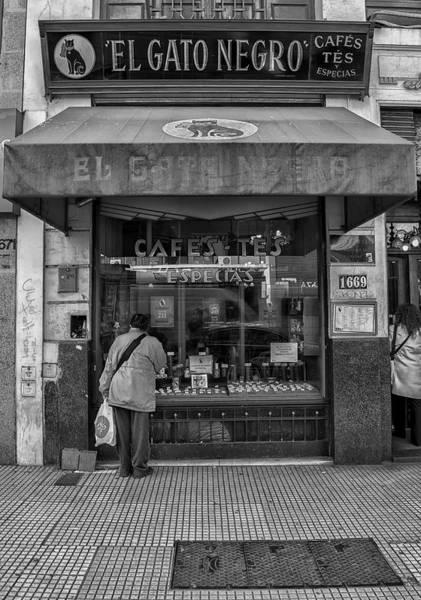Cabildo Wall Art - Photograph - El Gato Negro Cafe  by Hans Wolfgang Muller Leg