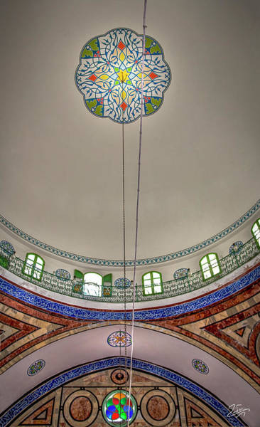 Photograph - El Jazzar Mosque Ceiling by Endre Balogh