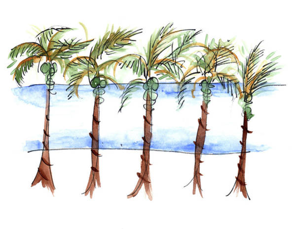 Painting - El Malecon Puerto Vallarta by Anna Elkins