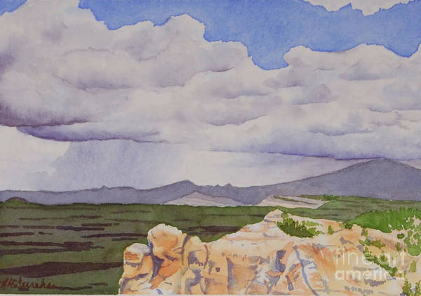 Wall Art - Painting - El Malpais, New Mexico by Annette McGarrahan