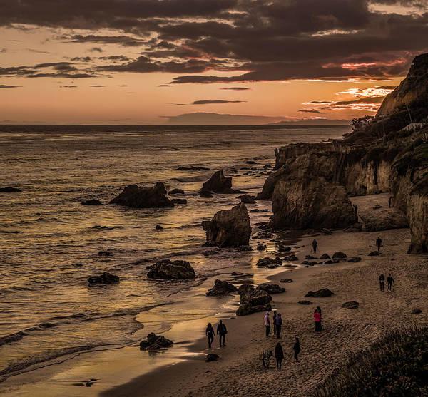 Photograph - El Matador Beach At Dusk by Gene Parks