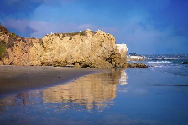 Photograph - El Matador Beach Reflections by Lynn Bauer