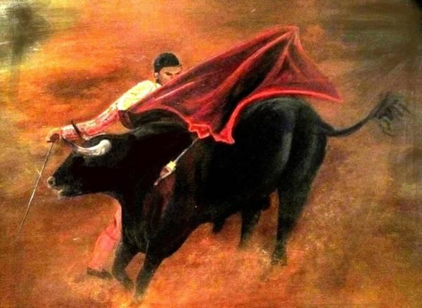 Torro Painting - El Matador by Staci Saunders