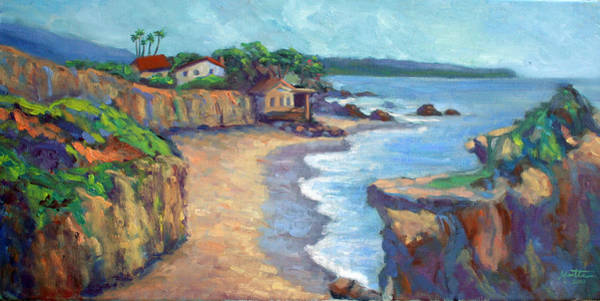Matador Wall Art - Painting - El Matador State Beach by Athena Mantle