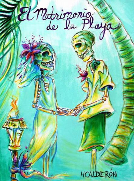 Honeymoon Painting - El Matrimonio De La Playa by Heather Calderon