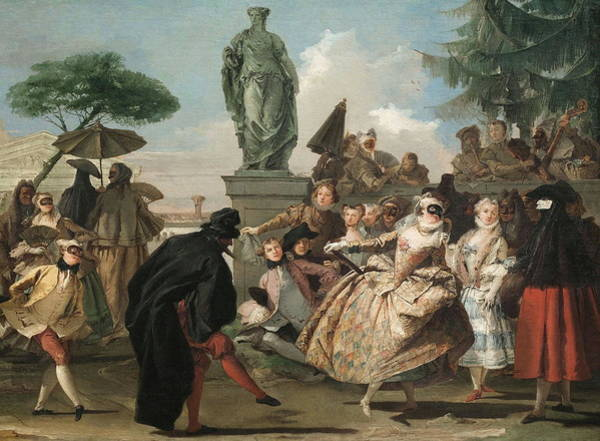 Fashion Plate Painting - El Minuet by Giovanni Domenico Tiepolo