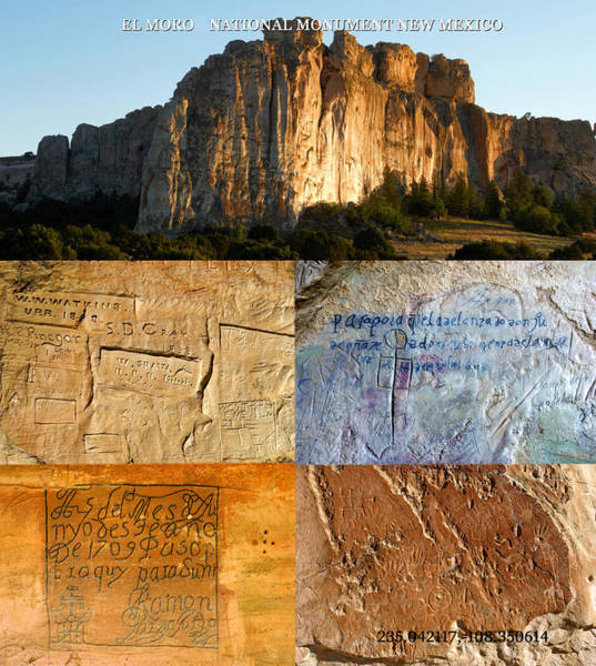 Wall Art - Photograph - El Moro National Monument New Mexico,  by David Lee Thompson