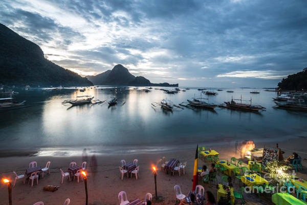 Photograph - El Nido Beach Bars In Palawan by Didier Marti