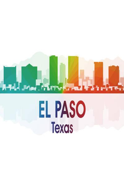Digital Art - El Paso Tx 1 Vertical by Angelina Tamez