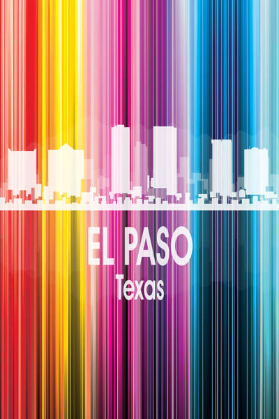 Wall Art - Digital Art - El Paso Tx 2 Vertical by Angelina Tamez