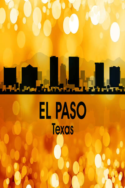 Wall Art - Digital Art - El Paso Tx 3 Vertical by Angelina Tamez