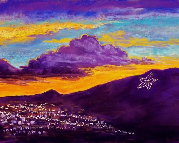 El Paso Wall Art - Pastel - El Paso's Star by Candy Mayer
