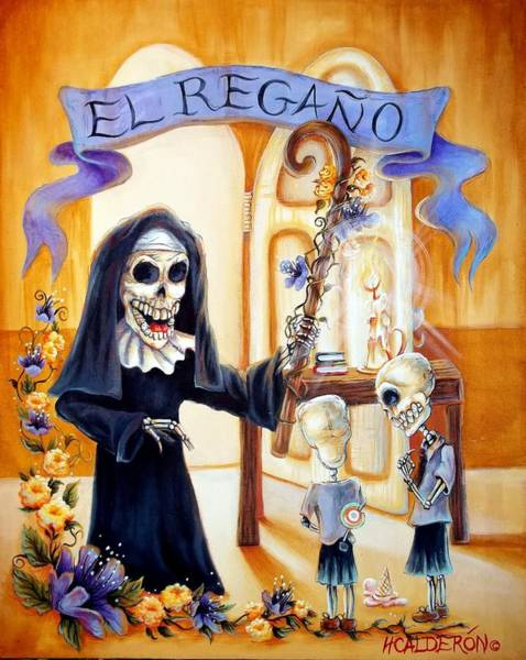 Latino Painting - El Regano by Heather Calderon