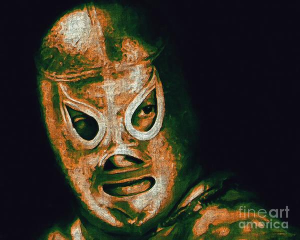 Wingsdomain Digital Art - El Santo The Masked Wrestler 20130218 by Wingsdomain Art and Photography