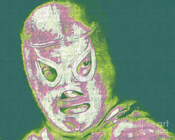 Digital Art - El Santo The Masked Wrestler 20130218v2m80 by Wingsdomain Art and Photography