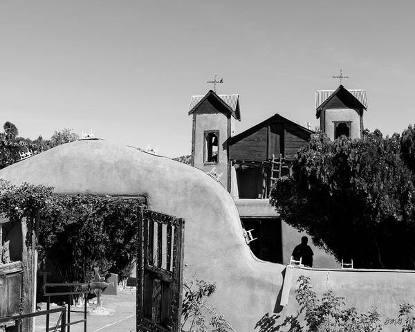 Photograph - El Santuario De Chimayo II Bw by David Gordon