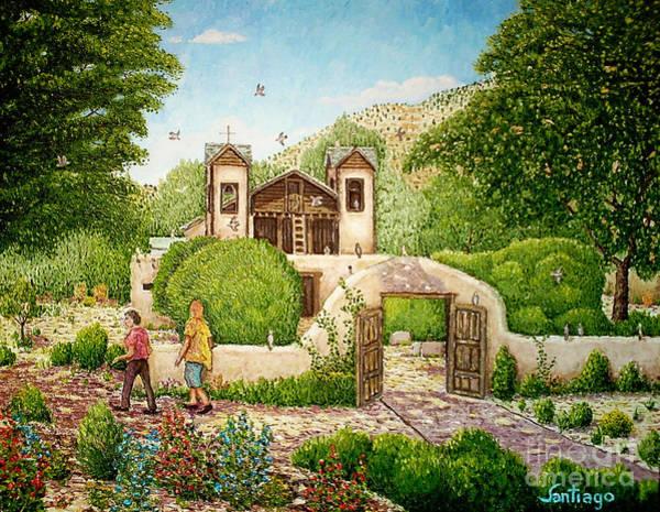 Painting - El Santuario De Chimayo by Santiago Chavez
